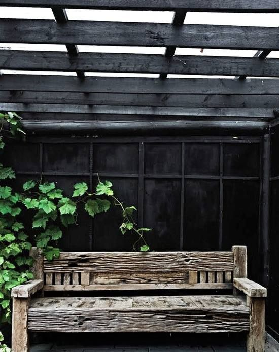 Nordic summer house #black and #green #garden #interior #design