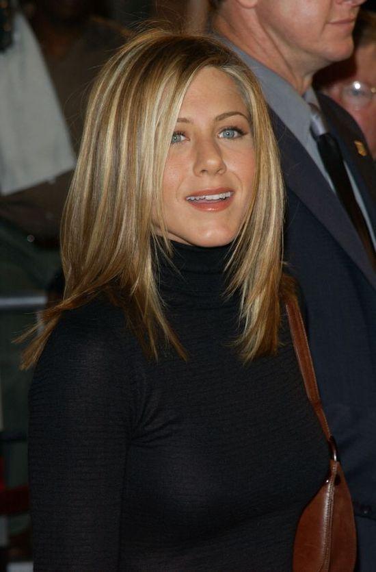 Jennifer Aniston Mid Length haircut. She always looks perfect!!! HOW?!?!