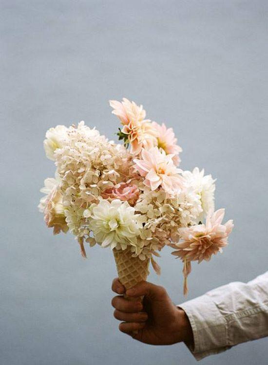 Ice Cream Cone Flower Arrangements by Parker Fitzgerald