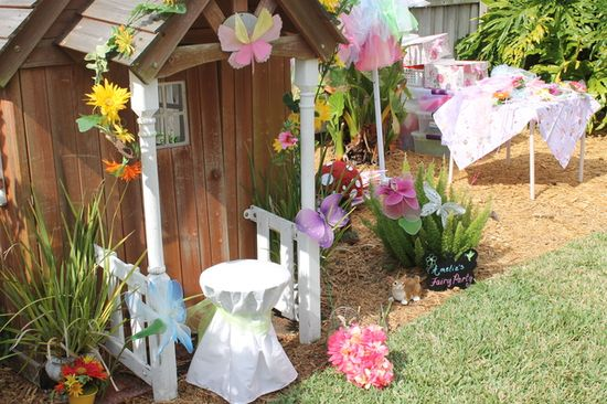 Fairy Party #fairy #party  we could do this for our cubby house!