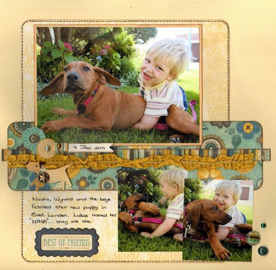 #papercraft #scrapbook #layout Best of Friends