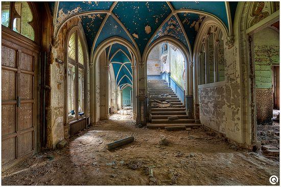 interior - abandoned Miranda Castle  -  Belgium