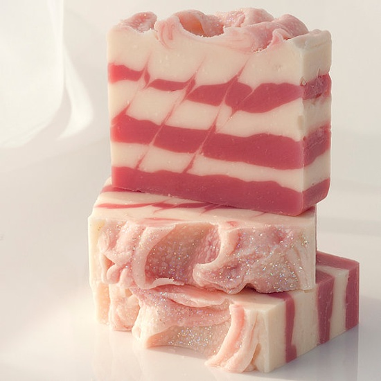 """""""Seasonal"""" Vegan Soap Candy Cane with Peppermint Essential by Indie Beauty Network member BlossomTwig, $6.00"""
