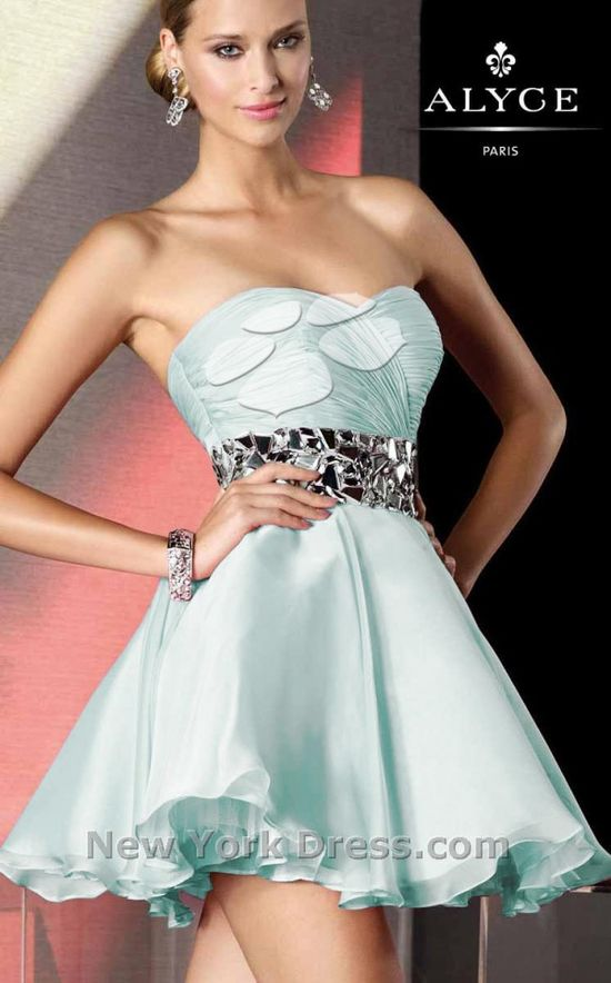 Exciting Mirror Embellished Party Dress