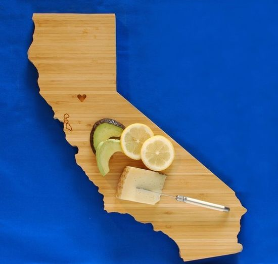 AHeirloom's California State Shaped Cutting Board by AHeirloom, $48.00