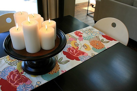 candles on a cake stand