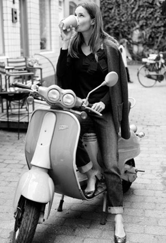Motorbike + coffee