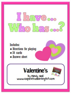Free!!! Valentines day activity! I have, who has....