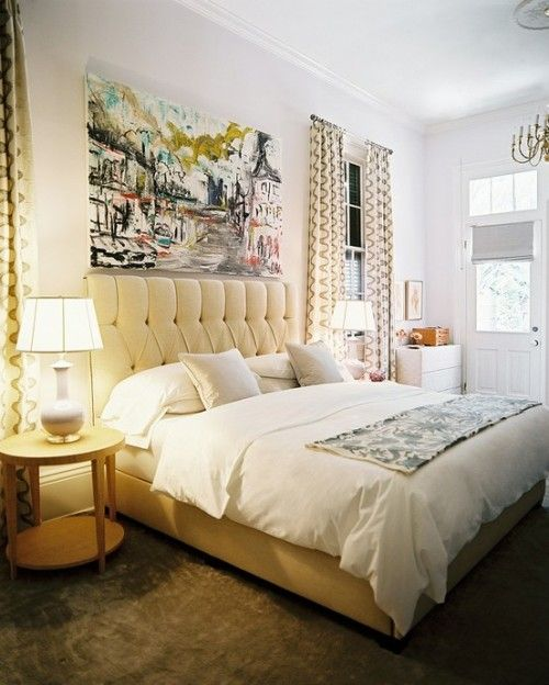 large photo like this in guest bedroom