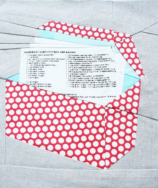 Recipe Box paper piecing