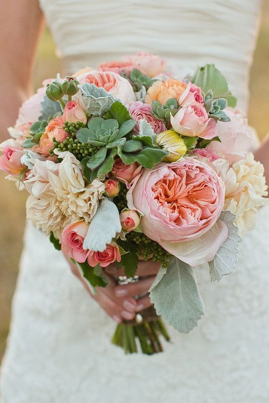sweet succulents and peachy-pinks