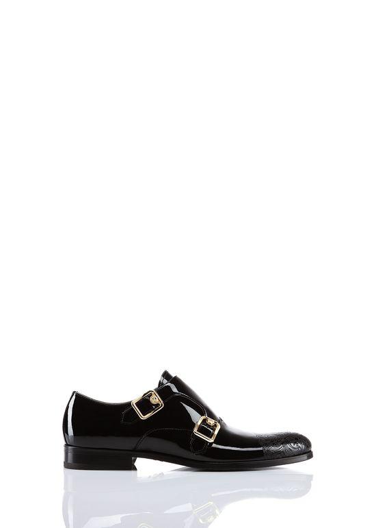 Patent Double Monk-Strap Shoes