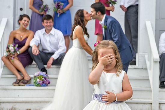 Cute flower girl picture
