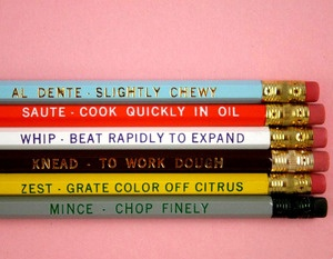Pencils with cooking tips #food