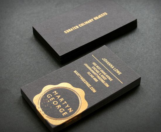 Business card black & gold