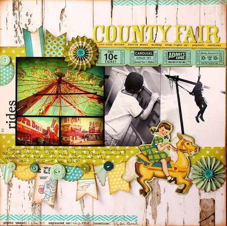 #papercraft #scrapbook #layout Hilscountyfairlayout