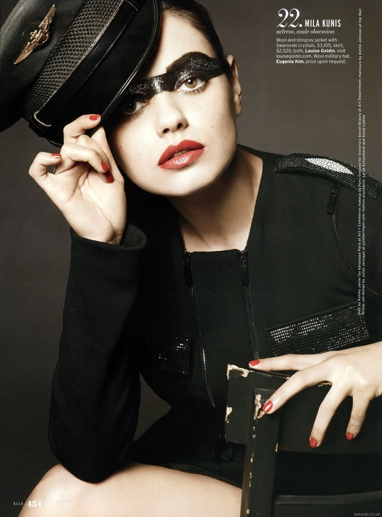 Mila Kunis - Elle, October 2010