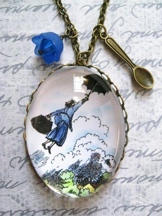 Mary Poppins Necklace by fairytalesbybluebird on Etsy, $28.00