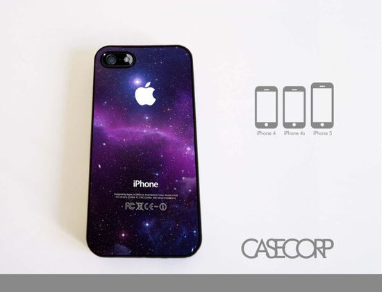 Awesome Galaxy Nebula Case for iPhone 4, 4s, and 5 via Etsy