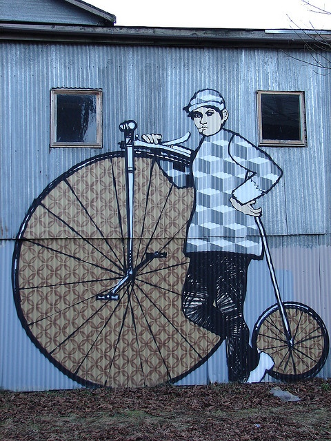 Bike art on the bike trail in Bellingham, WA. #street Art #graffiti