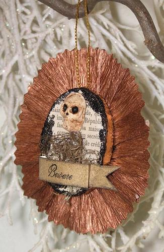 Halloween Folk Art Ornament