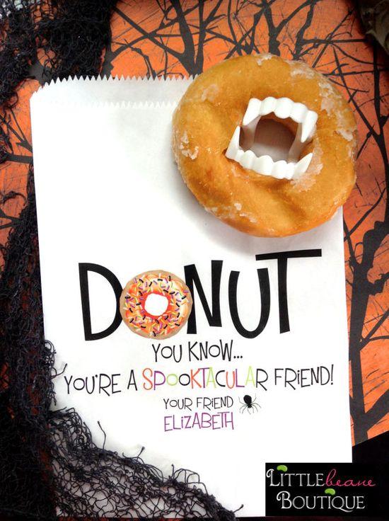Halloween Donut bags Donut favor
