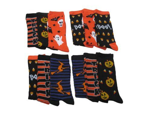 Halloween Socks, 5 Different Designs, Halloween « Clothing Adds Anytime