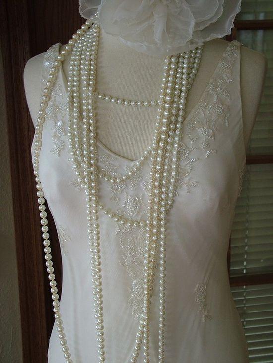 Retro 1920s Flapper wedding dress Bridal by RetroVintageWeddings