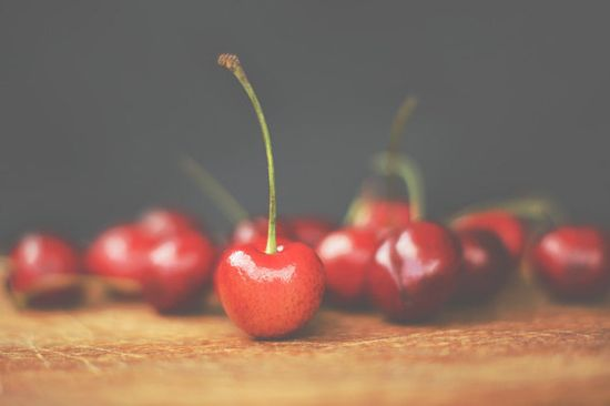 Cherries Photo, Food Styling, Red Kitchen Decor, $25.00+