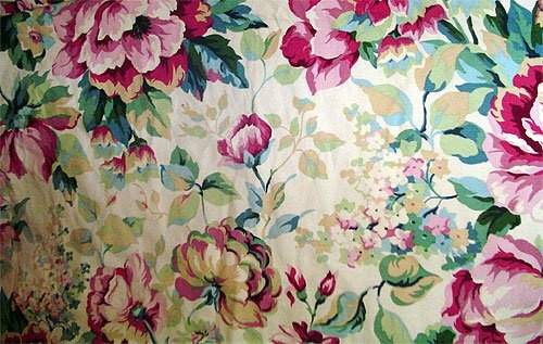 vintage rose fabric