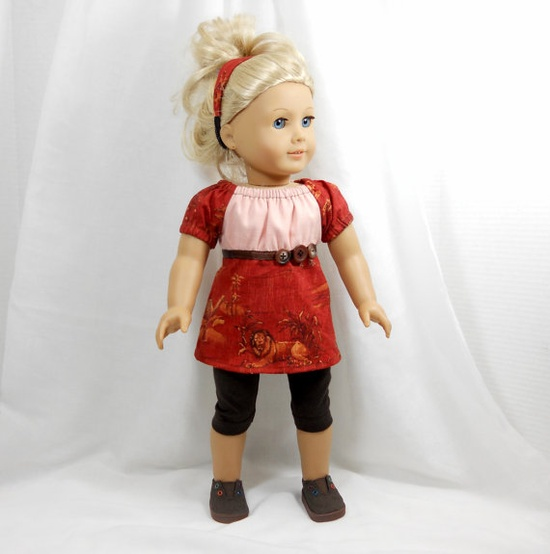 American girl 18 doll clothes peasant top and by MegOrisDolls, $17.00