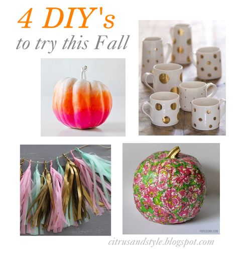 4 DIY's to try this Fall