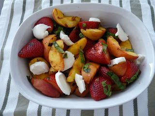 Edible Life in YYC: Grilled Fruit Salad with Bocconcini & Mint