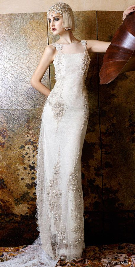 Yolan Cris wedding dress 2013 Italia Jeweled Bridal Gown #wedding #bridal #spadelic #atlanta bride #bohemian