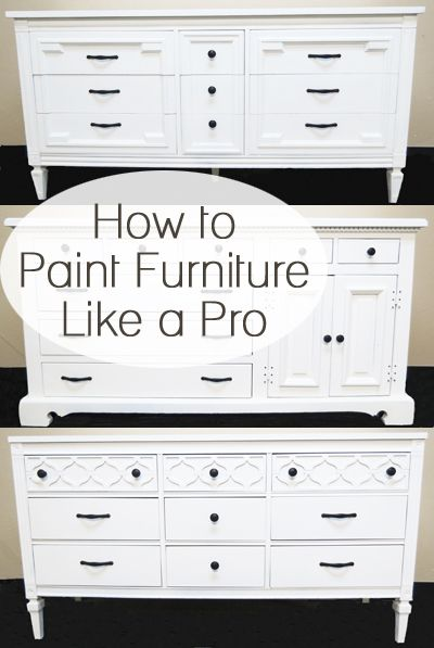 How to paint furniture like a pro.  Lots of furniture painting makeovers and tutorials here.