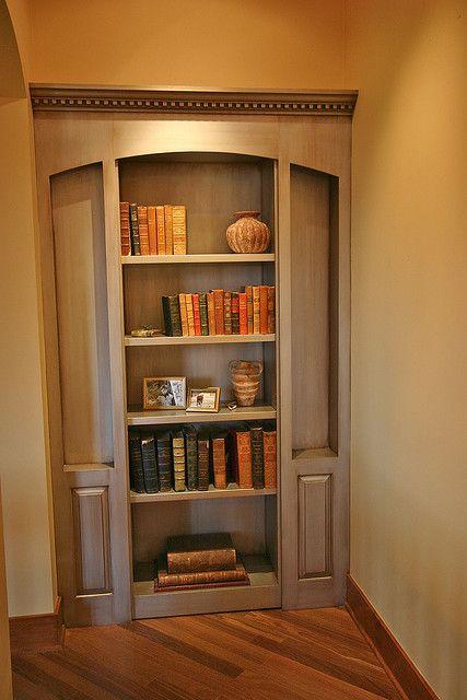 Bookcase is secret door....
