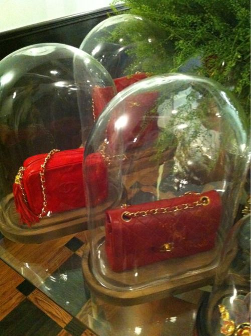 cool way to display your lovely handbags.
