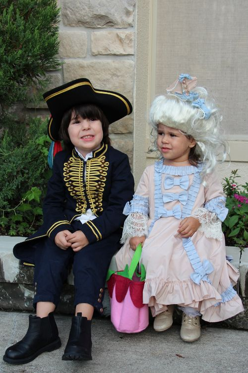#halloween #costumes Marie Antoinette and Pirate Captain