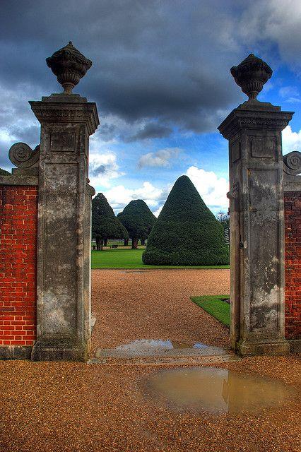 Hampton Court Garden gate, England