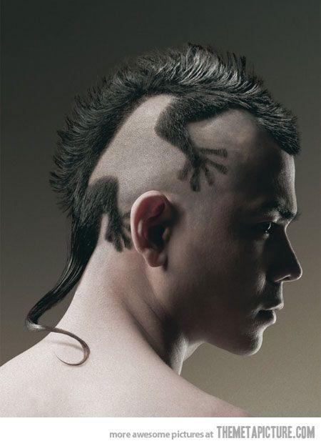 außergewöhnlicher Haarschnitt