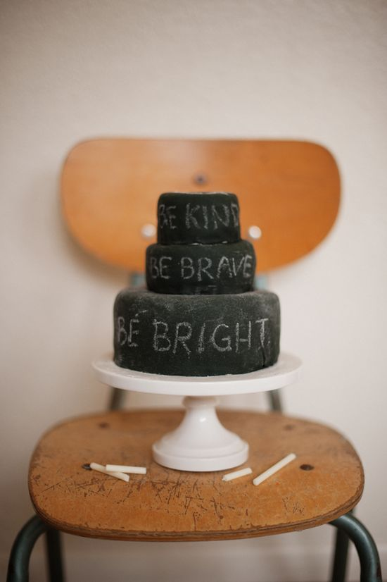 chalkboard cake that you can eat.  whaaa??