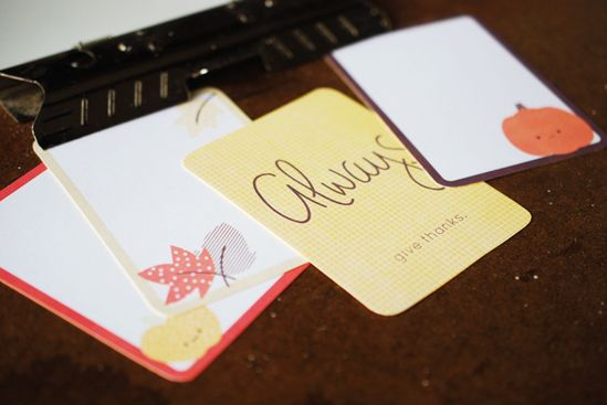Printable fall journaling cards (from Wild Olive)