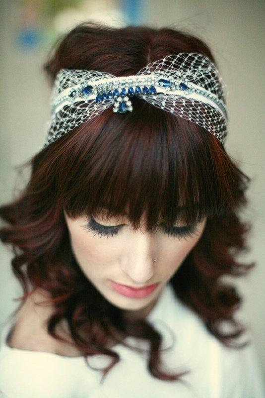 Vintage Rhinestone Encrusted Headband 2