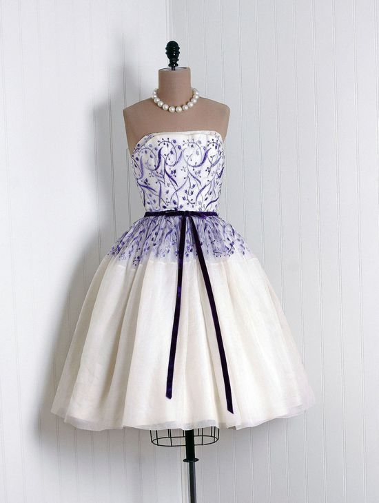 1950's organza party dress