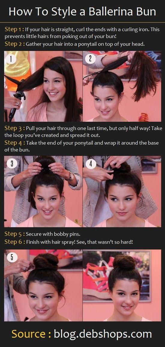 How To Do a Ballerina Bun Hairstyle