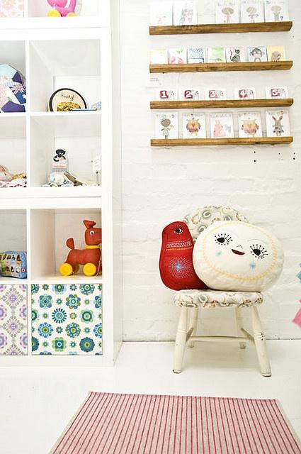 pillows! shelf, cubbies