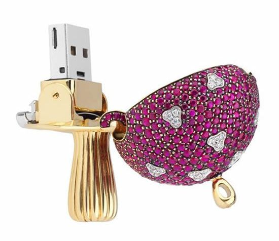 Gem-studded Magic Mushroom USB