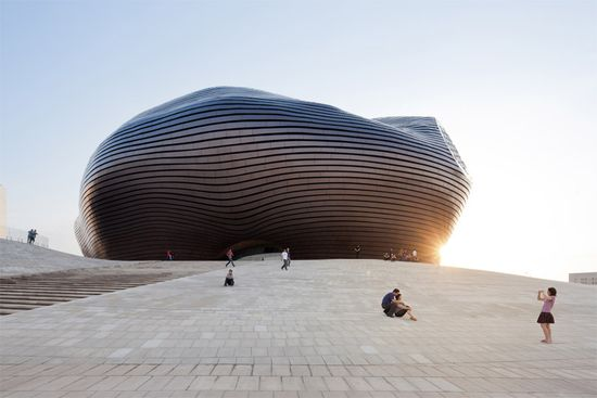 iwan baan photographs ordos museum by MAD architects