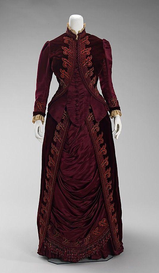 Designer:      Charles Frederick Worth (French (born England), Bourne 1825–1895 Paris)  Date:      ca. 1885  Culture:      French  Medium:      silk, linen