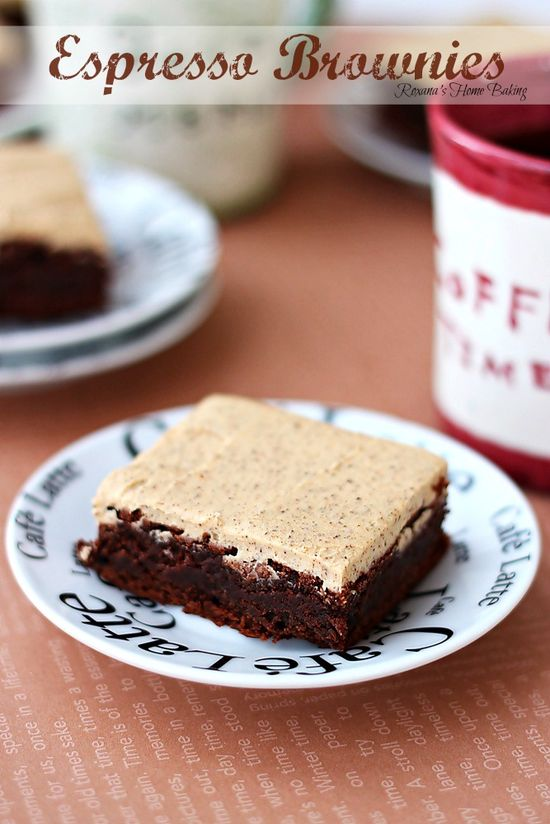 Espresso brownies with espresso frosting recipe — Roxana's Home Baking